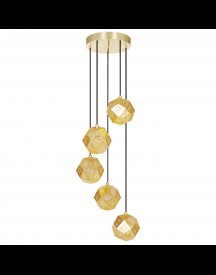 Tom Dixon Etch Mini Chandelier Hanglamp Messing afbeelding