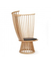 Tom Dixon Fan Chair Stoel Naturel afbeelding