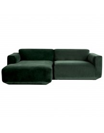 &tradition Develius Bank 2-zits Met Chaise Longue Links Velvet Green afbeelding