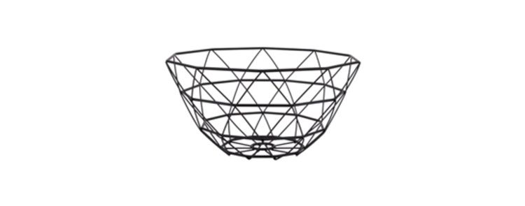 Image Pt Basket Diamond Cut Iron Black