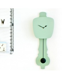 Kloq Wandklok S Gale Green -soft Yellow afbeelding