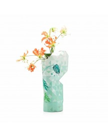 Paper Vase Cover Jungle Leaves afbeelding