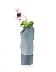 Paper Vase Cover Small Blauw Watercolor afbeelding