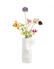 Paper Vase Cover Wit afbeelding