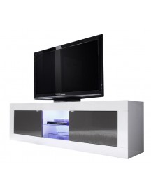 Benvenuto Design Modena Tv Meubel Big Hg Wit/antraciet+led afbeelding