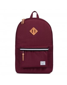 Herschel Heritage Rugzak Offset Windsor Wine/veggie Tan Leather afbeelding