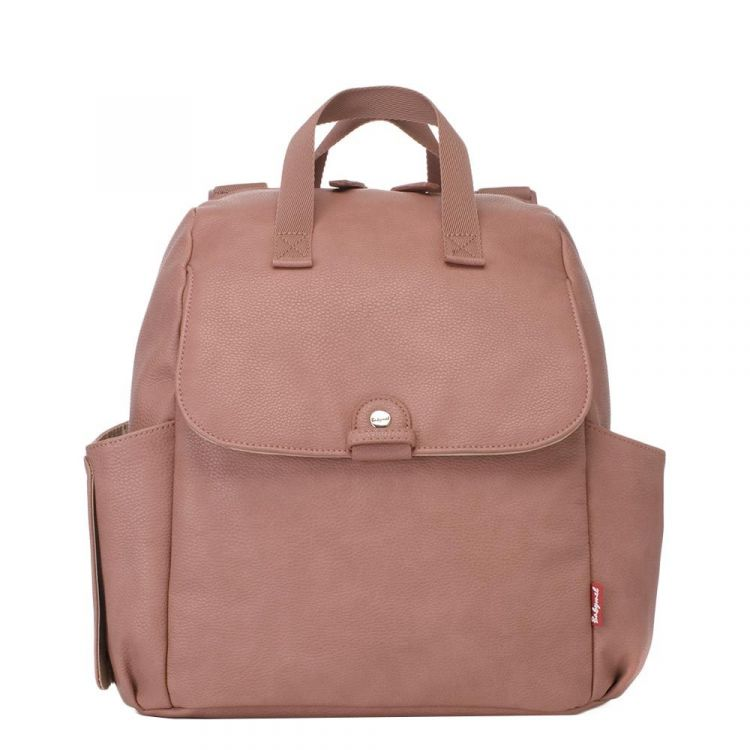 Image Babymel Robyn Convertible Backpack Faux Leather Dusty Pink Luiertas
