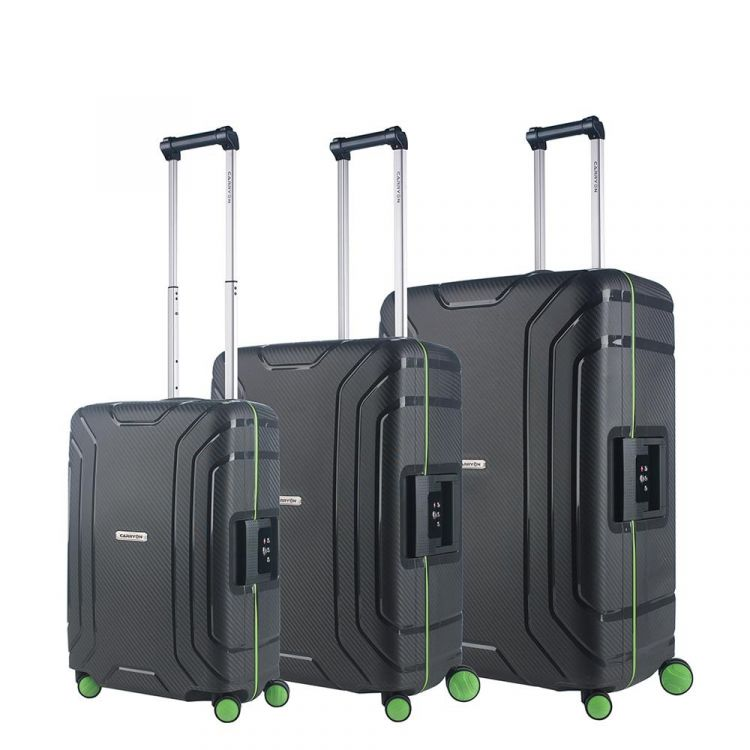 Image Carryon Steward Trolleyset 3pc Dark Grey