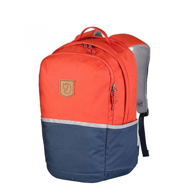 Image Fjallraven High Coast Kids Rugzak Flame Orange-navy Kindertas