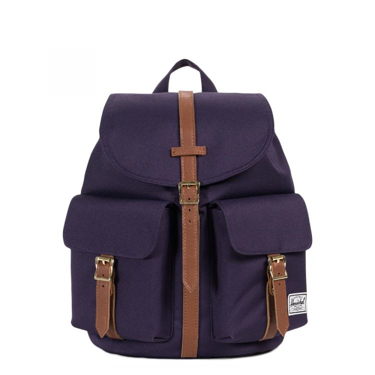 Image Herschel Supply Co. Dawson Rugzak Xs Purple Velvet/tan Synthetic Leather Rugzak