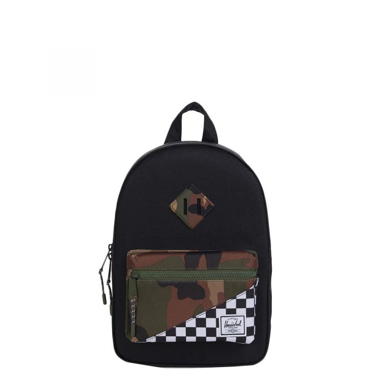 Image Herschel Supply Co. Heritage Kids Kids Rugzak Black/checker/woodland Camo