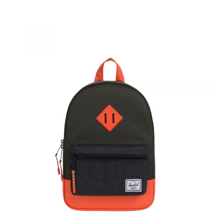 Image Herschel Supply Co. Heritage Kids Kids Rugzak Forest Night/black Crosshatch/vermillion Orange
