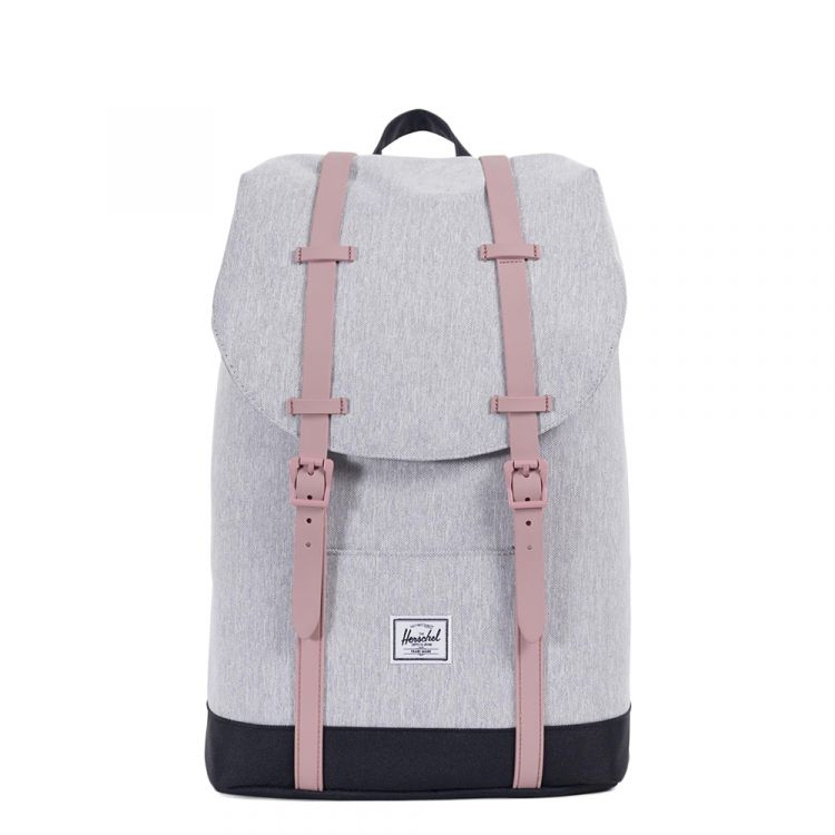 Image Herschel Supply Co. Retreat Mid-volume Rugzak Light Grey Crosshatch / Ash Rose / Black