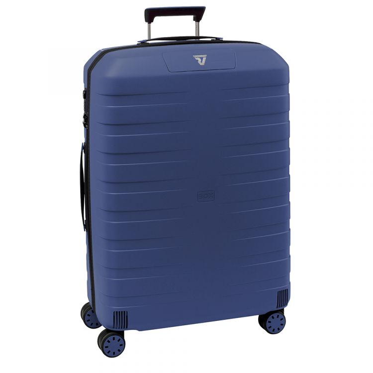 Image Roncato Box 2.0 4 Wiel Trolley Large 78 Blue Harde Koffer