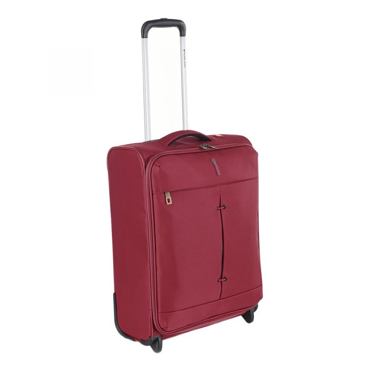 Image Roncato Ironik 2 Wheel Cabin Trolley 55 Red Zachte Koffer