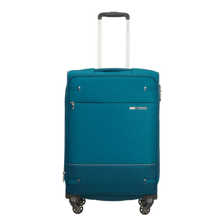 Image Samsonite Base Boost Spinner 66 Expandable Petrol Blue Zachte Koffer