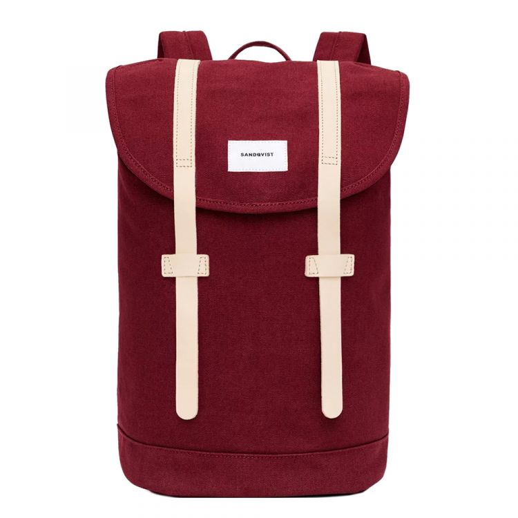 Image Sandqvist Stig Backpack Burgundy Natural