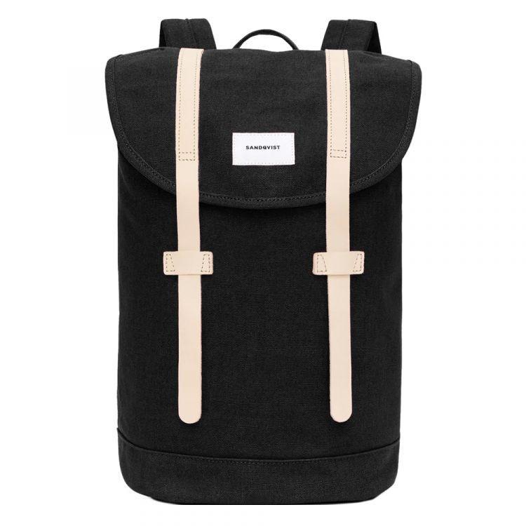 Image Sandqvist Stig Large Backpack Black Natural
