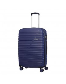 American Tourister Aero Racer Spinner 68 Expandable Nocturne Blue Harde Koffer afbeelding