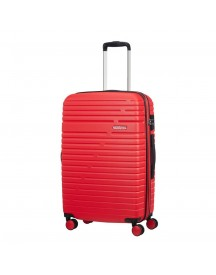 American Tourister Aero Racer Spinner 68 Expandable Poppy Red Harde Koffer afbeelding