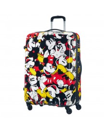 American Tourister Disney Legends Spinner 75 Alfatwist Mickey Comics Harde Koffer afbeelding