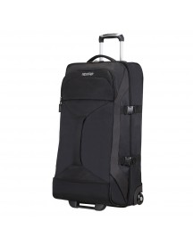 American Tourister Road Quest 2 Compartments Duffle Wheels L Solid Black Reistas afbeelding