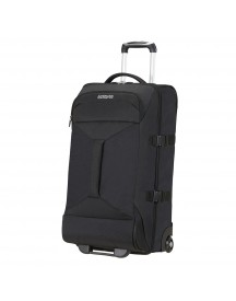 American Tourister Road Quest 2 Compartments Duffle Wheels M Solid Black Reistas afbeelding