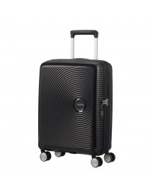 American Tourister Soundbox Spinner 55 Expandable Bass Black Harde Koffer afbeelding
