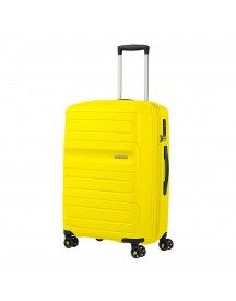 American Tourister Sunside Spinner 68 Expandable Sunshine Yellow Harde Koffer afbeelding