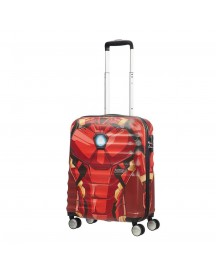 American Tourister Wavebreaker Marvel Spinner 55 Iron Man Close-up Harde Koffer afbeelding