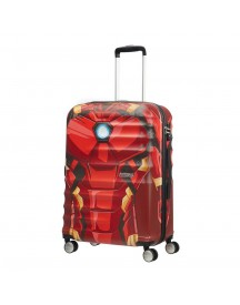 American Tourister Wavebreaker Marvel Spinner 67 Iron Man Close-up Harde Koffer afbeelding