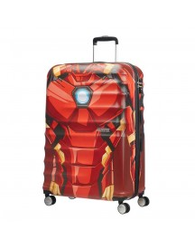 American Tourister Wavebreaker Marvel Spinner 77 Iron Man Close-up Harde Koffer afbeelding