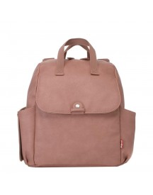 Babymel Robyn Convertible Backpack Faux Leather Dusty Pink Luiertas afbeelding
