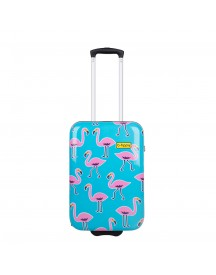 Bhppy Go Flamingo Trolley 55 Blue / Pink Harde Koffer afbeelding
