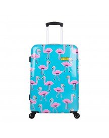 Bhppy Go Flamingo Trolley 67 Blue / Pink Harde Koffer afbeelding