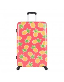 Bhppy Pretty Pineapple Trolley 77 Roze Harde Koffer afbeelding