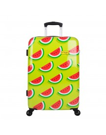 Bhppy Two In A Melon Trolley 67 Green / Red Harde Koffer afbeelding