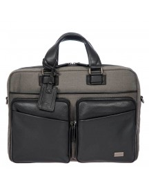 Bric's Monza Briefcase 2 Compartments Grey / Black afbeelding