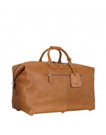 Bric's Life Pelle Reistas 55 Brown Leather Weekendtas afbeelding