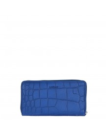 By Loulou Shiny Croco Wallet Dark Blue afbeelding