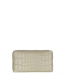 By Loulou Shiny Croco Wallet Olive afbeelding