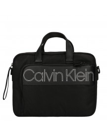 Calvin Klein Double Logo Laptop Bag Black afbeelding