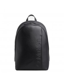 Calvin Klein Elevated Logo Round Backpack Black afbeelding