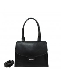 Claudio Ferrici Classico Shoulder Bag Black afbeelding