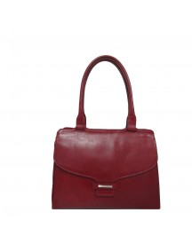 Claudio Ferrici Classico Shoulder Bag Red afbeelding