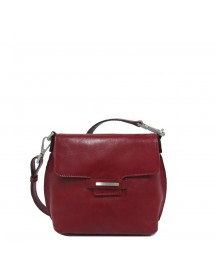 Claudio Ferrici Classico Shoulder Bag Small Red afbeelding