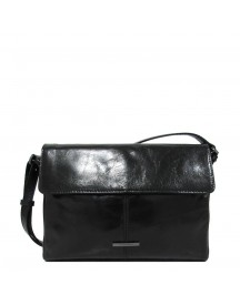 Claudio Ferrici Pelle Vecchia Shoulder Bag Black afbeelding