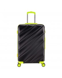 Decent Lumi-fix Trolley 77 Black / Lemon Harde Koffer afbeelding