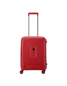 Delsey Moncey 4 Wheels Slim Cabin Trolley 55 Red Stars Harde Koffer afbeelding