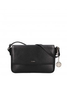 Dkny Bryant Medium Flap Crossbody Black / Gold afbeelding
